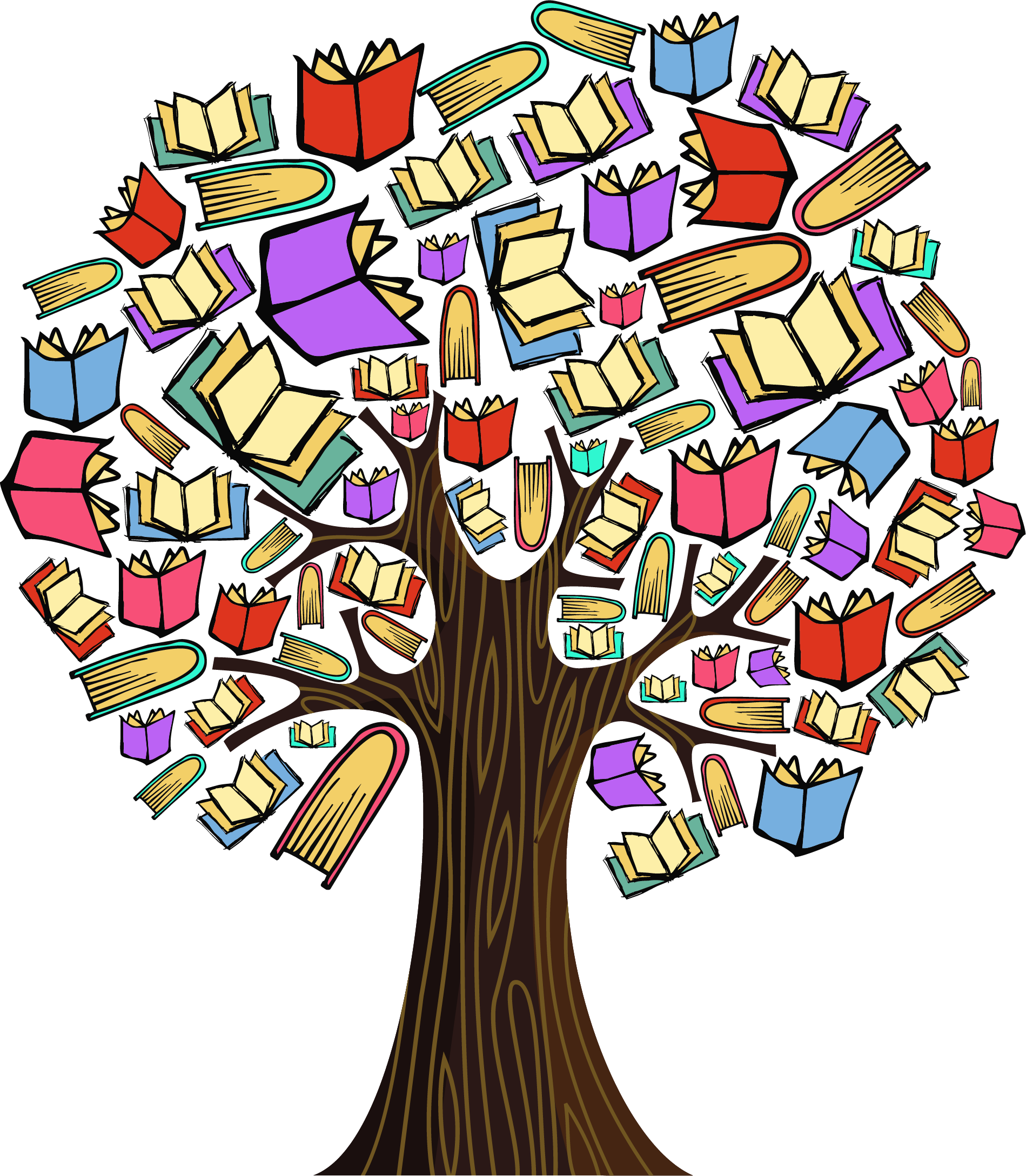 Colourful Book Tree Milk Education Supply Agency